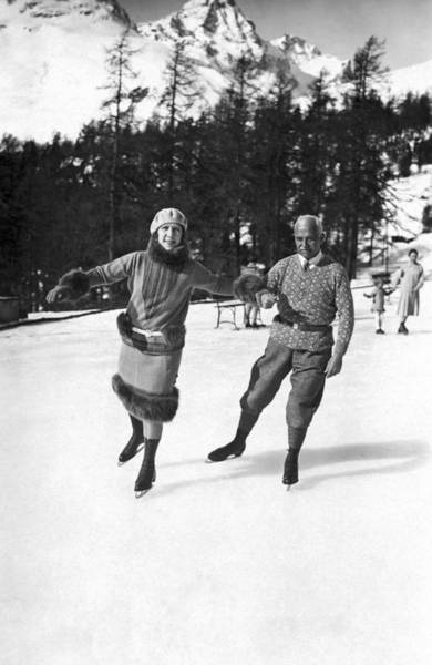 Appearance Photograph - Sir Deterding At St. Moritz by Underwood Archives