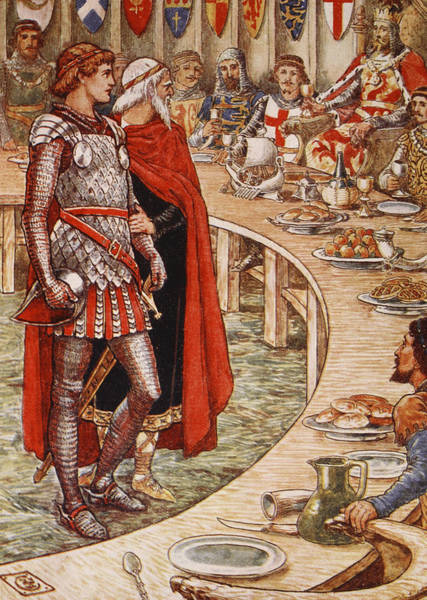 Wall Art - Painting - Sir Galahad Is Brought To The Court Of King Arthur by Walter Crane