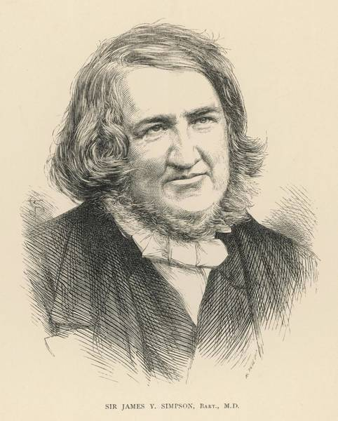 Wall Art - Drawing - Sir James Young Simpson (1811 - 1870) - by Mary Evans Picture Library