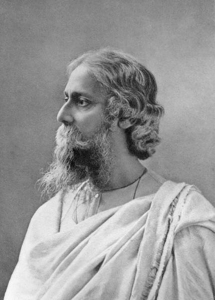 Wall Art - Photograph - Sir Rabindranath Tagore  Indian Bengali by Mary Evans Picture Library