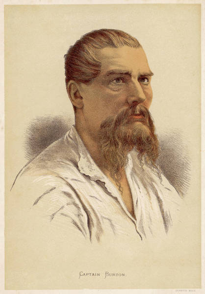 Wall Art - Drawing - Sir Richard Francis Burton  Traveller by Mary Evans Picture Library
