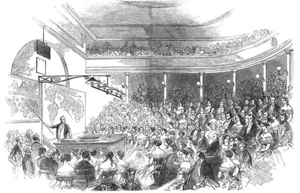 Distribution Drawing - Sir Roderick Murchison  Lectures by  Illustrated London News Ltd/Mar
