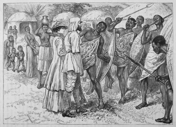 Uganda Drawing - Sir Samuel And Lady Baker Welcomed by Mary Evans Picture Library
