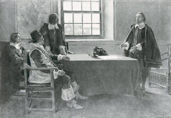 Brandywine Wall Art - Photograph - Sir William Berkeley Surrendering To The Commissioners Of The Commonwealth, Illustration From In by Howard Pyle