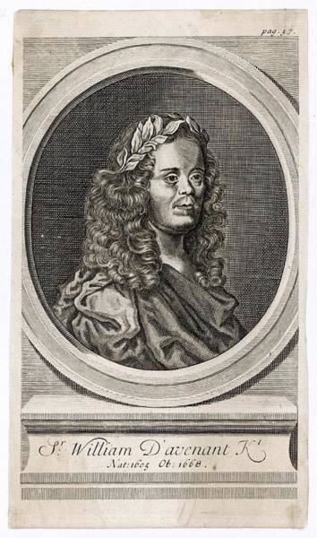Wall Art - Drawing - Sir William Davenant  English Poet by Mary Evans Picture Library