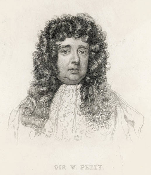 Wall Art - Drawing - Sir William Eminent English Economist by Mary Evans Picture Library