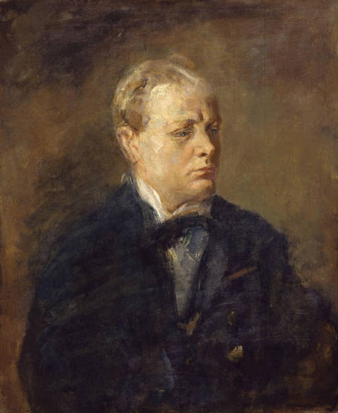 Painting - Sir Winston Leonard Spencer Churchill  by Celestial Images