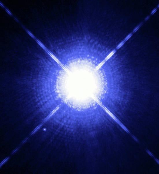 Wall Art - Photograph - Sirius Binary Star System by H. E. Bonde. Nelanm. Barstowm. Burleighj. B. Holbergnasaesastsci