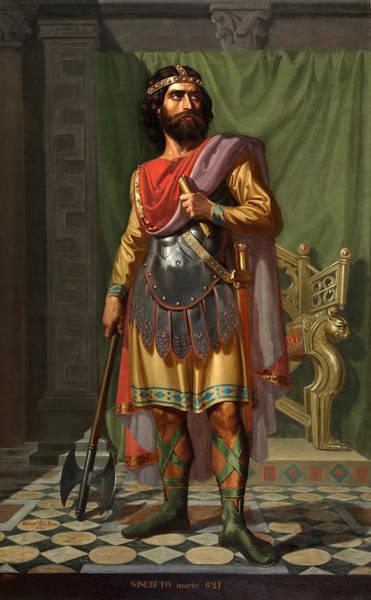 Roca Wall Art - Painting - Sisebut King Of The Visigoths by Mariano De La Roca y Delgado