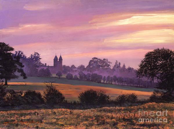 Lavender Mist Wall Art - Painting - Sissinghurst Castle Sunset by David Lloyd Glover