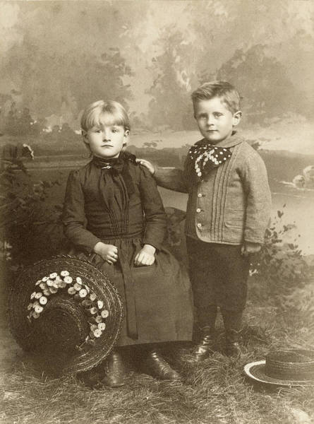 Photograph - Sister And Brother, C1890 by Granger