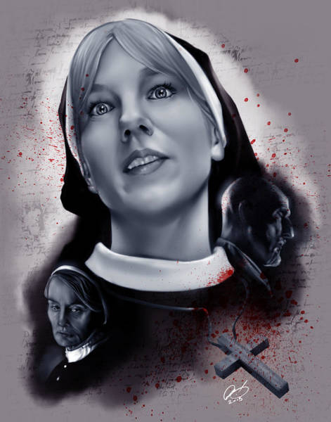 Painting - Sister Mary Eunice by Pete Tapang