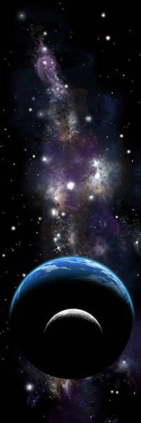 Sister Moon Nebula Art Print