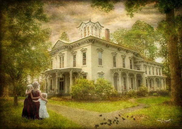 Mansion Mixed Media - Sisters And Secrets by Fran J Scott