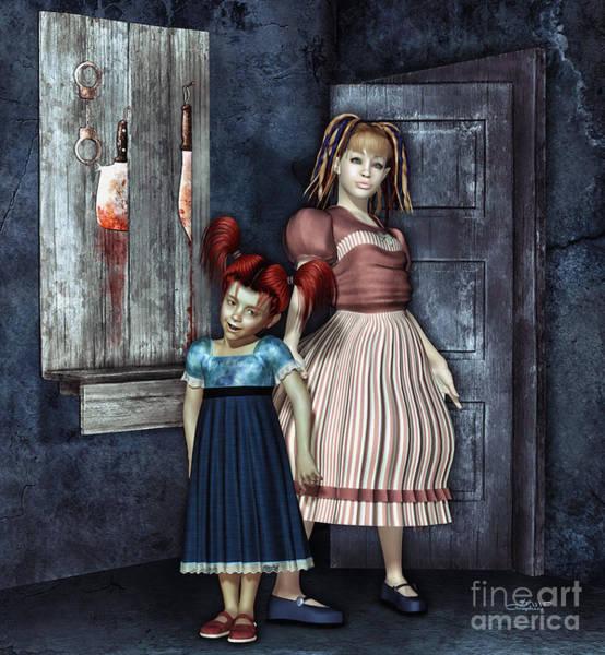 Digital Art - Sisters by Jutta Maria Pusl