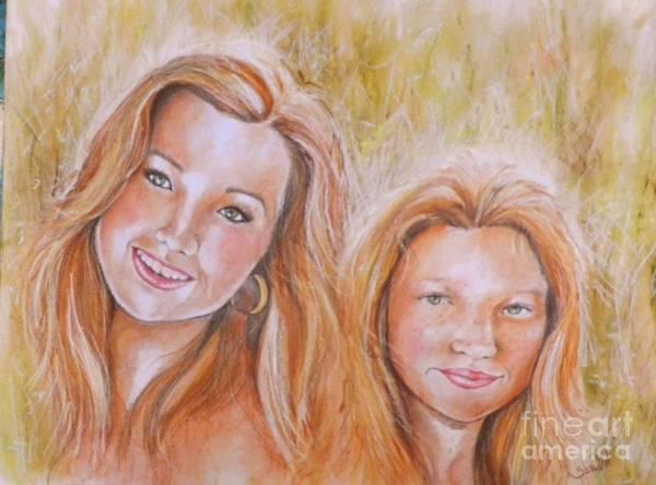 Wall Art - Mixed Media - Sisters by Sandra Valentini