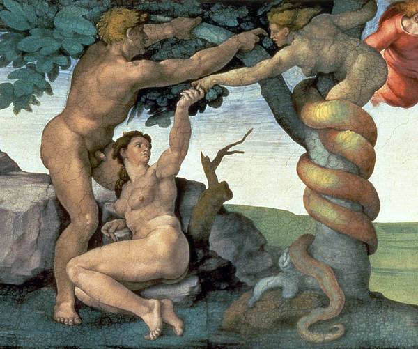 Eden Painting - Sistine Chapel Ceiling by Michelangelo