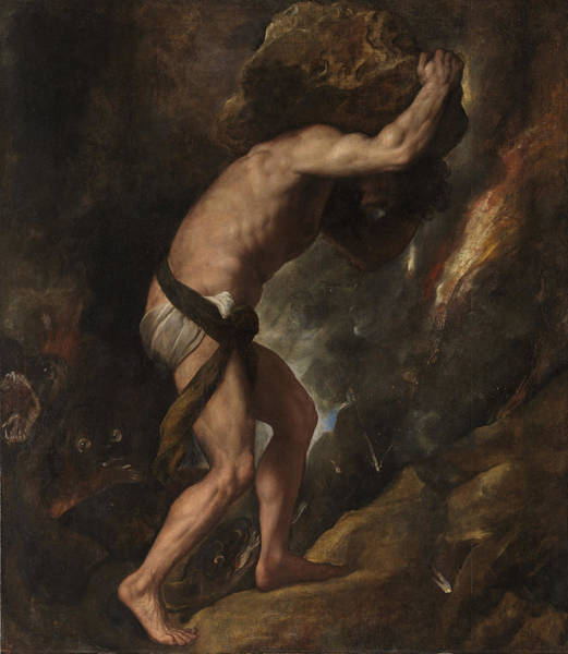 Titian Painting - Sisyphus by Titian
