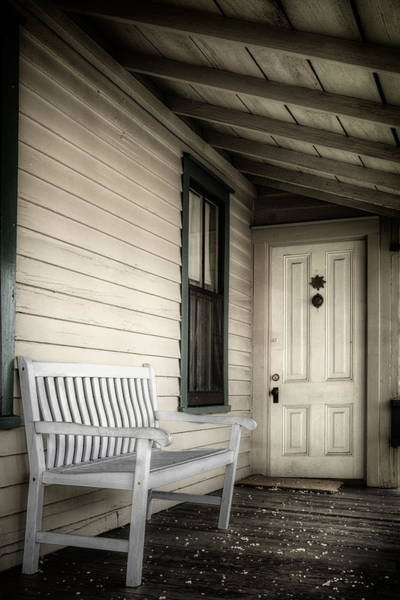 Wood Siding Wall Art - Photograph - Sit Awhile by Joan Carroll