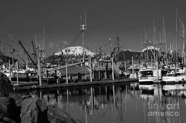 Wall Art - Photograph - Sitka Marina In Bw by Scarlett Images Photography