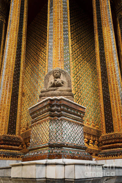 Photograph - Sitting Buddha At Phra Mondop by Inge Johnsson