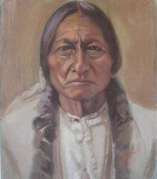 Meadowlark Painting - Sitting Bull by Dave Holman