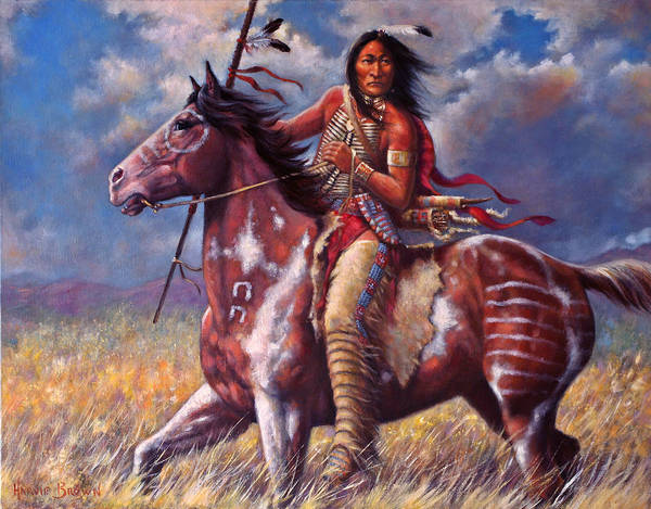 Sioux Wall Art - Painting - Sitting Bull by Harvie Brown