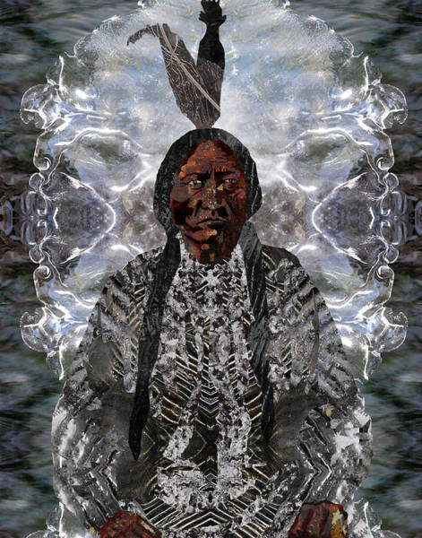 Mlk Digital Art - Sitting Bull by JG Whitney