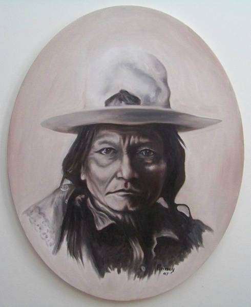 Painting - Sitting Bull by Michael  TMAD Finney