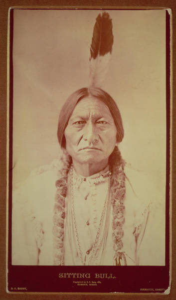 Native American Photograph - Sitting Bull, Sioux Chief, C.1885 Bw Photo by David Frances Barry