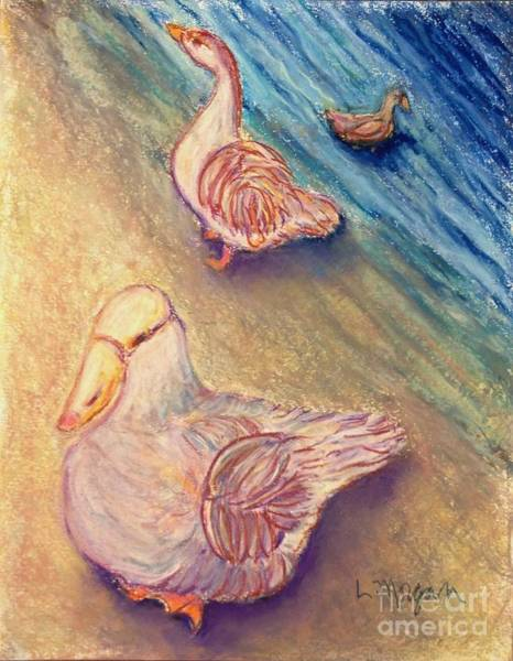 Painting - Sitting Ducks by Laurie Morgan