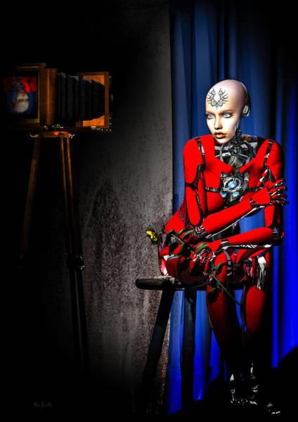 Cyborg Digital Art - Sitting For The Camera by Bob Orsillo