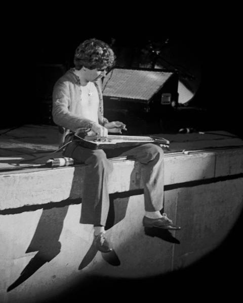Photograph - Sitting On The Front Of The Stage 1977 by Ben Upham