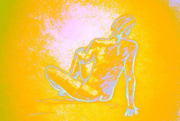 Sexuality Mixed Media - Sitting Waiting by Genio GgXpress