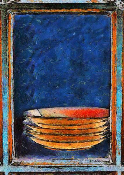 Painting - Six Japanese Bowls by RC DeWinter