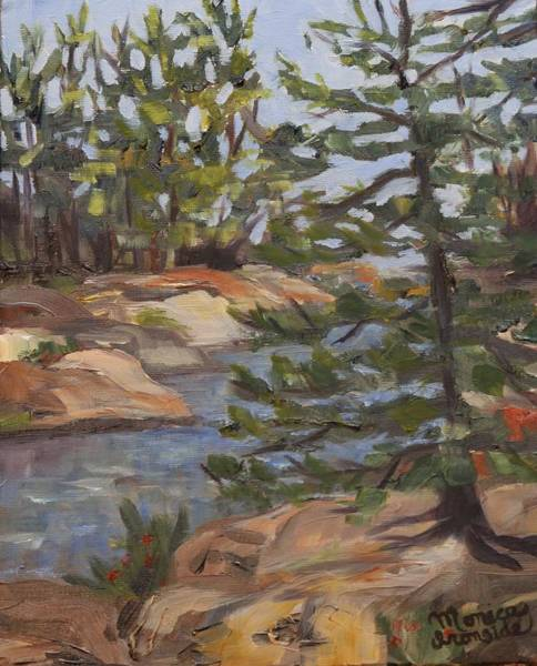 Painting - Six Mile Lake Channel by Monica Ironside