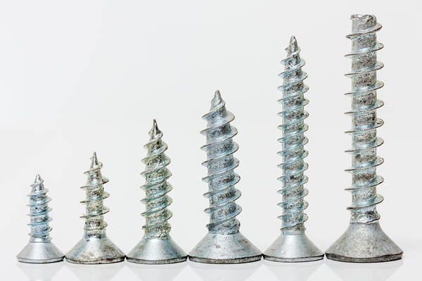 Photograph - Six Screws. by Gary Gillette