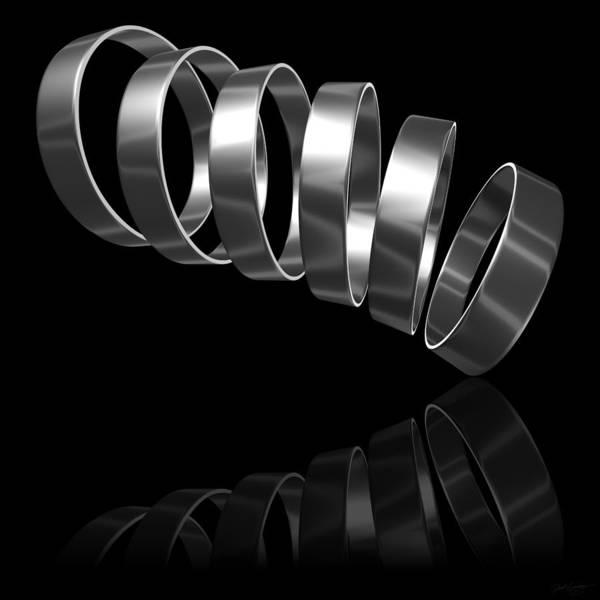 Digital Art - Six Silver Rings by Derek Gedney