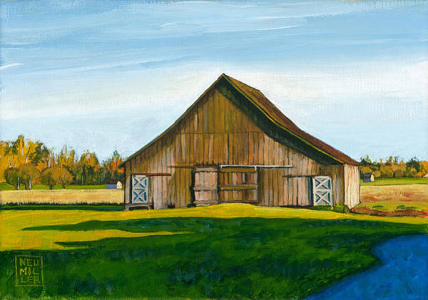 Wall Art - Painting - Skagit Valley Barn #3 by Stacey Neumiller
