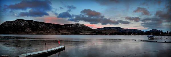 Skaha Lake Panorama 02-19-2014 Art Print