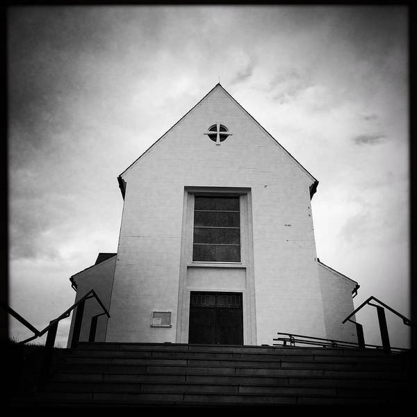 Religious Wall Art - Photograph - Skalholt Cathedral Iceland Europe Black And White by Matthias Hauser