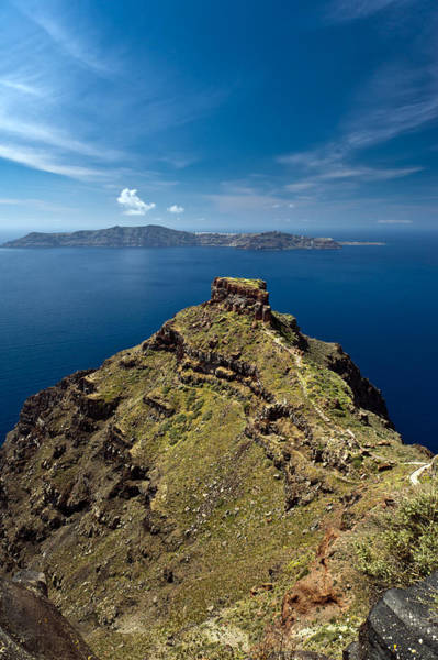 Photograph - Skaros On Santorini by Gary Eason