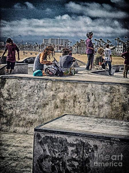 Cultivation Digital Art - Skateboard Park Venice Bch 2 by Charles H Davis