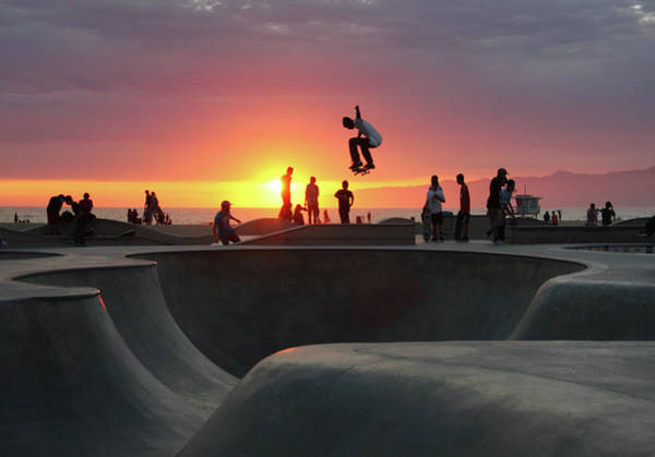 Leisure Photograph - Skateboarding At Venice Beach by Mgs