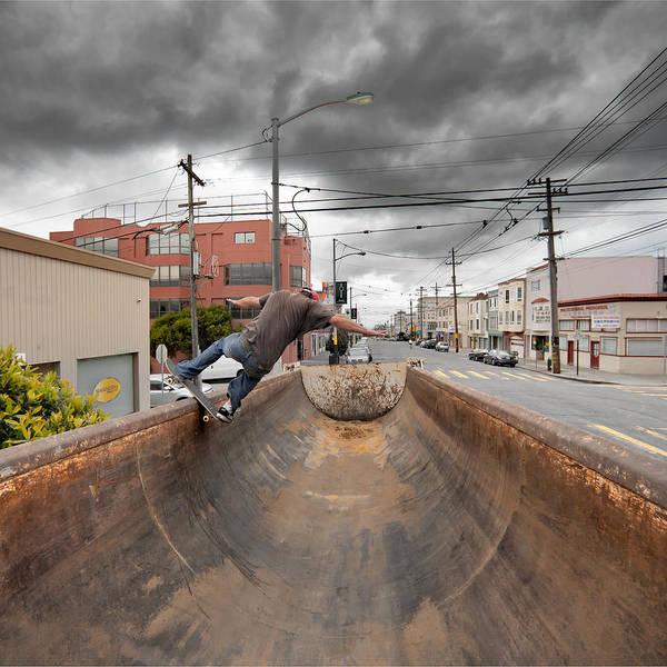 Furon Photograph - Dump Truck Skateboarding In Balboa Street by Daniel Furon