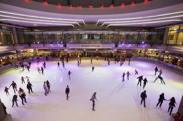 Quebec City Photograph - Skating Rink At Atrium Le 1000 by David Thompson / Design Pics