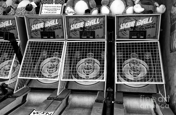 Photograph - Skee Ball Mono by John Rizzuto