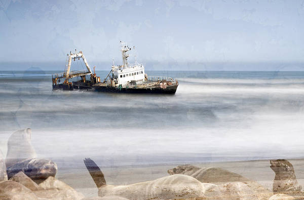 Photograph - Skeleton Coast Shipwreck by Paul W Sharpe Aka Wizard of Wonders