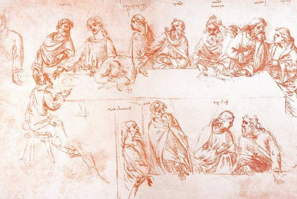 Fresco Wall Art - Photograph - Sketch For The Last Supper by Sheila Terry