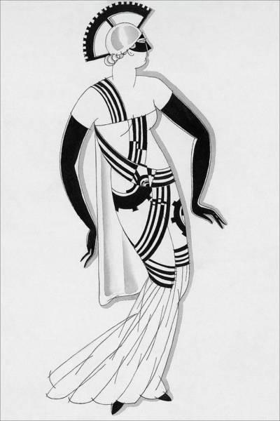 Costume Digital Art - Sketch Of Woman Wearing Hyperprism Costume by Robert E. Locher